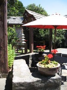 Seasonal Views of the Zen Garden Patios & Zen Bath